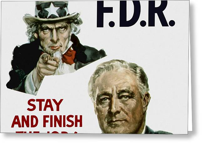 I Want You FDR  Greeting Card by War Is Hell Store