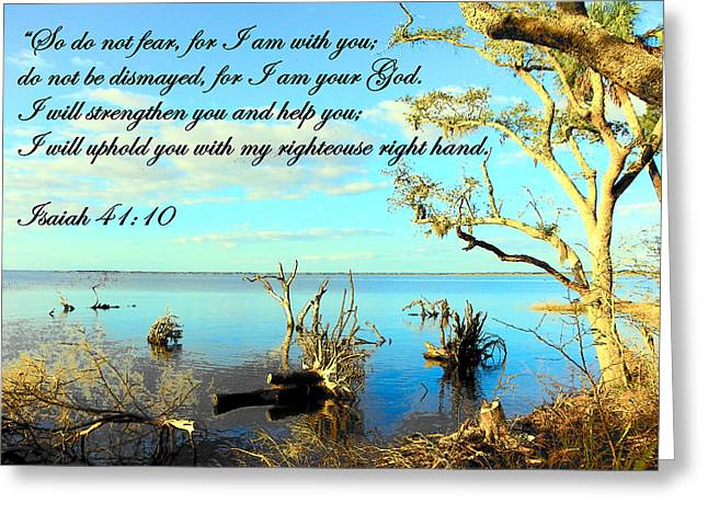 Isaiah Greeting Cards - I Will Uphold You Greeting Card by Sheri McLeroy