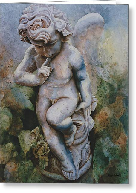 Garden Statuary Greeting Cards - I Wonder Greeting Card by Eve Riser Roberts