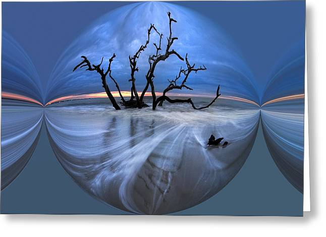 Sand Art Greeting Cards - I Would Go to the Ends of the Earth for You Greeting Card by Debra and Dave Vanderlaan