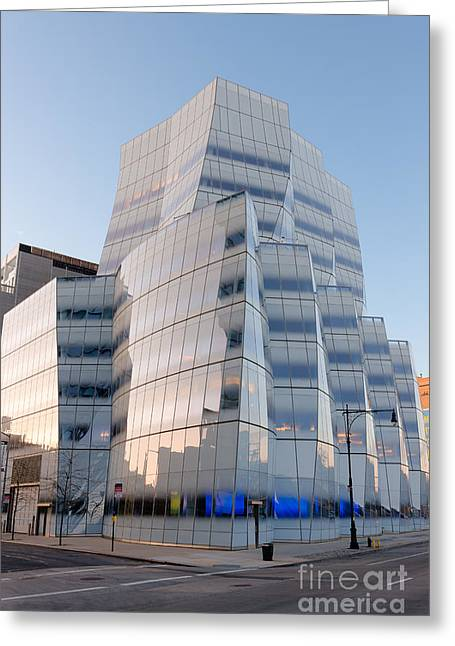 Chelsea Greeting Cards - IAC Building III Greeting Card by Clarence Holmes