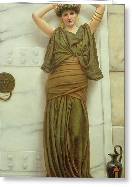 Ianthe Greeting Card by John William Godward
