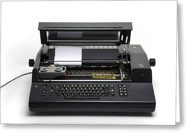 Typewriter Keys Greeting Cards - Ibm Electronic Composer, 1970s Greeting Card by Victor De Schwanberg