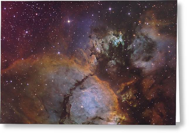 Heart Nebula Greeting Cards - Ic 1795, A Portion Of The Heart Nebula Greeting Card by Don Goldman