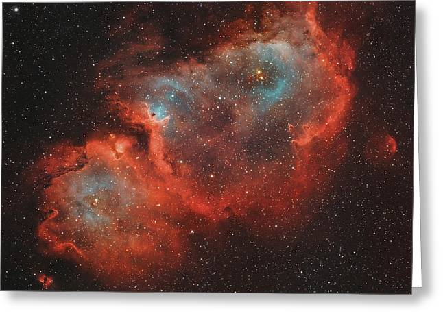 Colorful Cloud Formations Greeting Cards - Ic 1848, The Soul Nebula Greeting Card by Rolf Geissinger