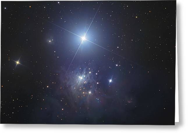 Twinkle Greeting Cards - Ic 348, Bluish Reflection Nebula Greeting Card by Don Goldman