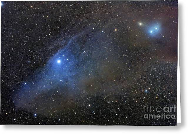 Interstellar Space Greeting Cards - Ic 4592, Ic 4601, Reflection Complex Greeting Card by Robert Gendler