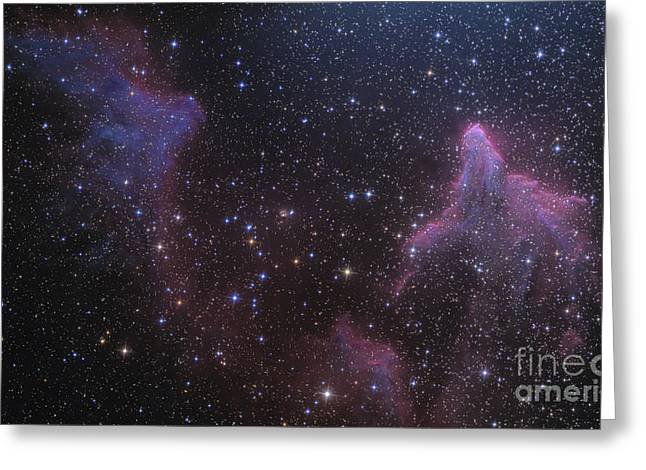 Twinkle Greeting Cards - Ic 59 And Ic 63 Near Gamma Cas Greeting Card by Ken Crawford