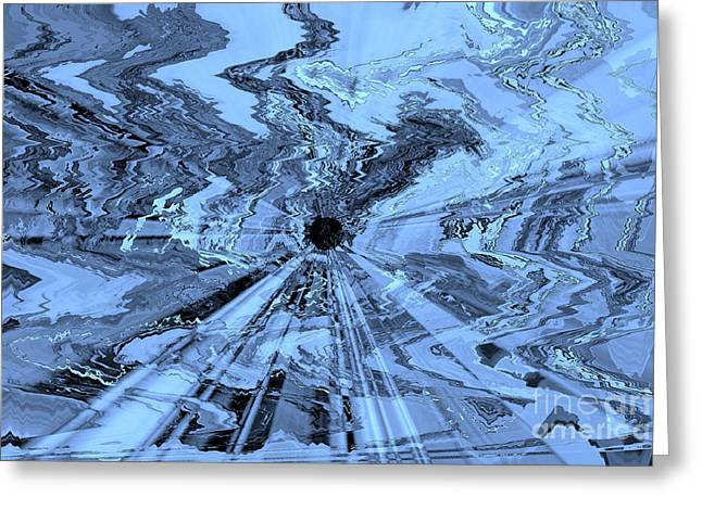 Ice Blue - Abstract Art Greeting Card by Carol Groenen