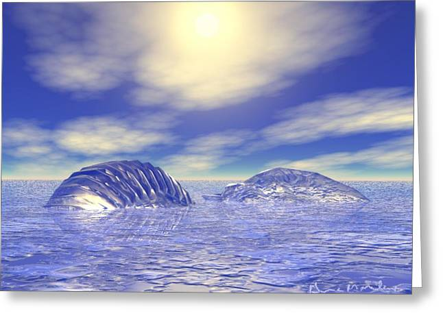 Gina Lee Manley Greeting Cards - Ice Caps Greeting Card by Gina Lee Manley