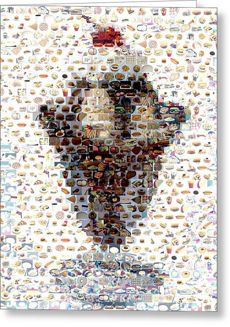 French Fries Digital Greeting Cards - Ice Cream Sundae Mosaic Greeting Card by Paul Van Scott