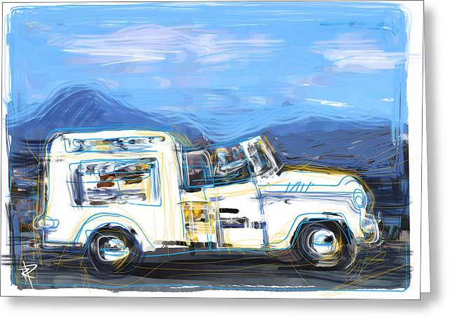 Ice Cream Truck Greeting Card by Russell Pierce