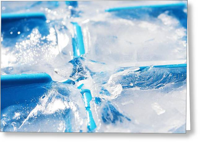 Ice Cubes Greeting Card by Carlos Caetano