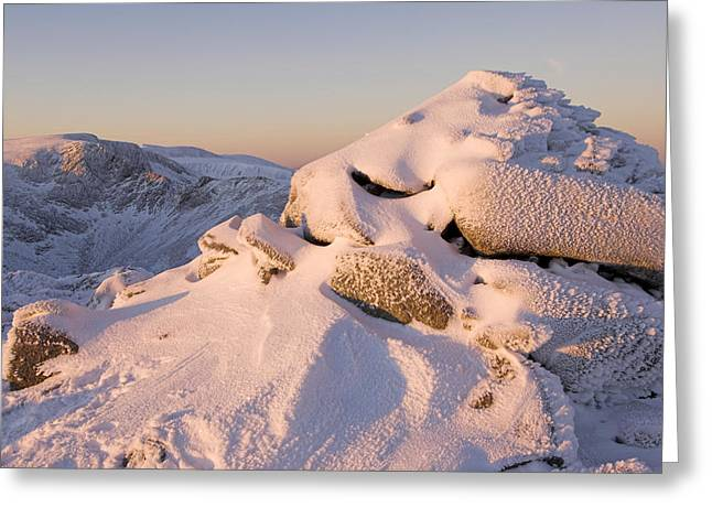 Ice-t Greeting Cards - Ice Encrusted Cairn Greeting Card by Duncan Shaw