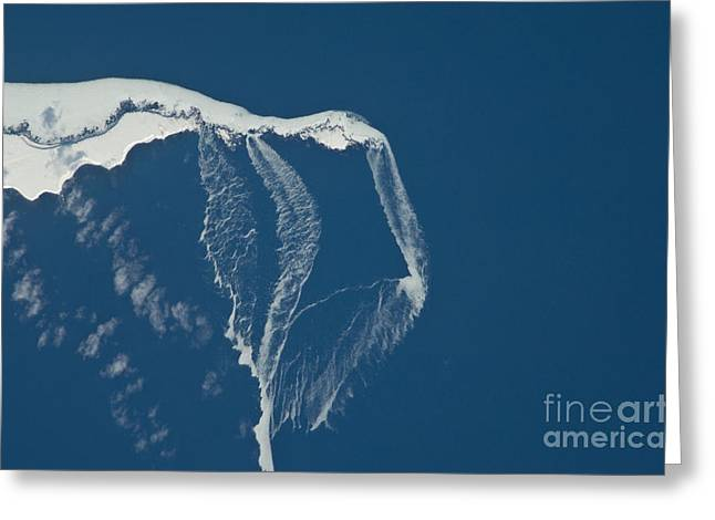 Aerial Photograph Greeting Cards - Ice Floes Off The Northeastern Tip Greeting Card by NASA/Science Source