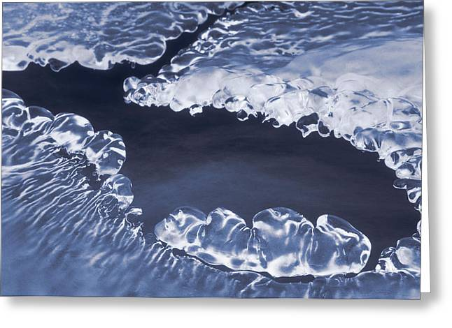 Brookes Greeting Cards - Ice Formations On Small Creek Greeting Card by Darwin Wiggett