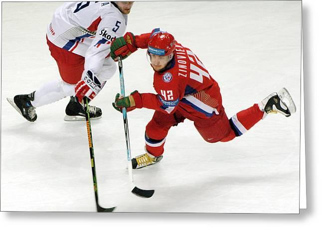 Hockey Equipment Greeting Cards - Ice Hockey Greeting Card by Ria Novosti