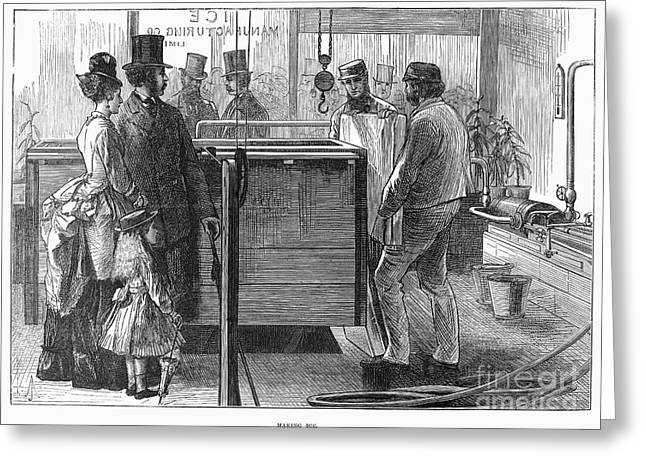 1874 Greeting Cards - Ice Manufacture, 1874 Greeting Card by Granger