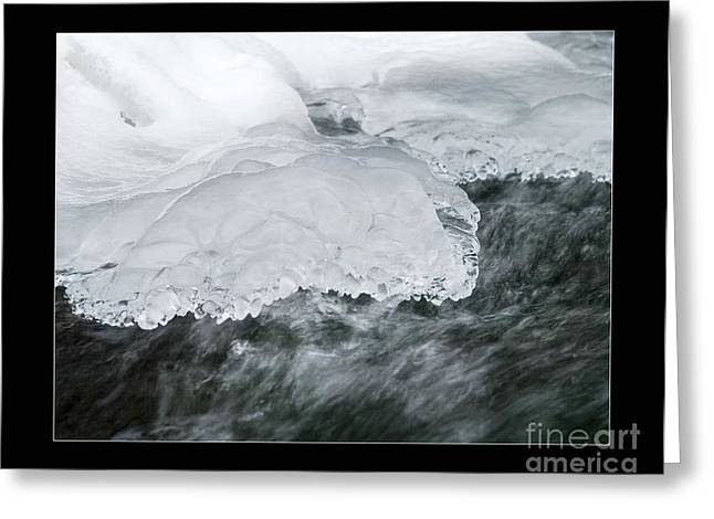 Temperature Greeting Cards - Ice Greeting Card by Odon Czintos