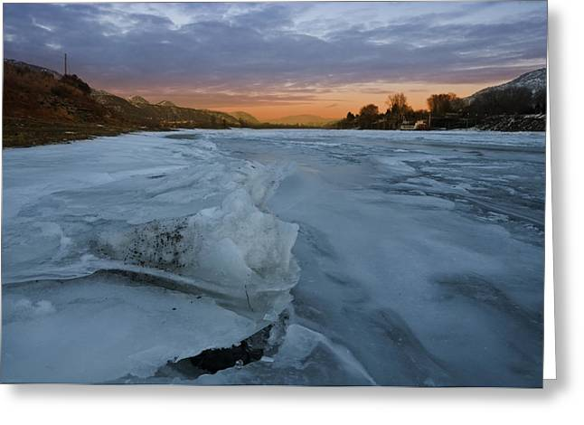 Breakup Greeting Cards - Ice on Ice Greeting Card by Peter Olsen