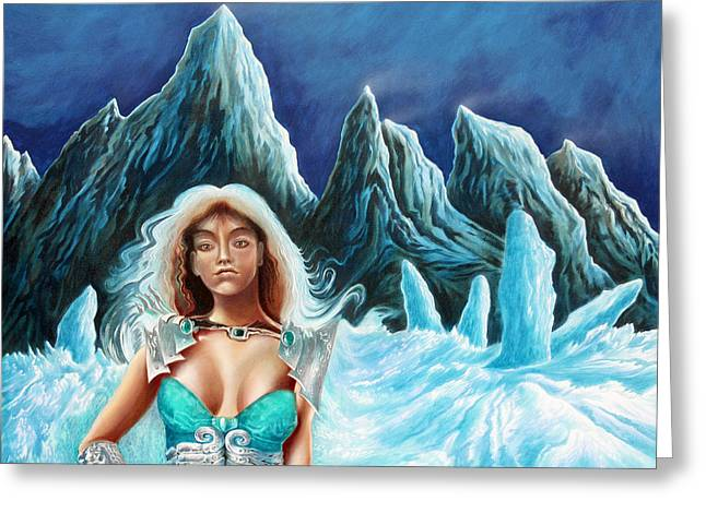 Dream Scape Greeting Cards - Ice Queen Greeting Card by Zoran Peshich
