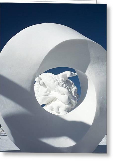 Ice Sculpture Greeting Cards - Ice Sculpture I - Breckenridge Greeting Card by Ellen Heaverlo