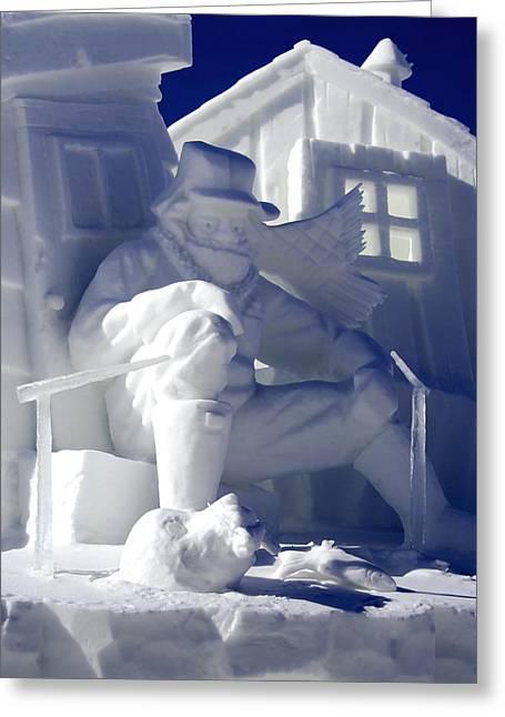 Ice Sculpture Greeting Cards - Ice Sculpture II - Breckenridge Greeting Card by Ellen Heaverlo