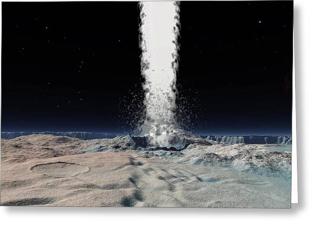 Geologically Greeting Cards - Ice Volcano On Triton, Artwork Greeting Card by Walter Myers