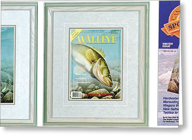 Bobber Greeting Cards - Ice Walleye Greeting Card by JQ Licensing