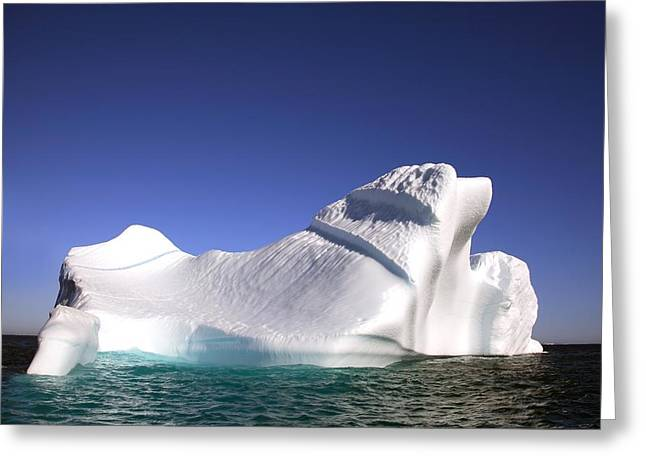 Drifting Snow Greeting Cards - Iceberg In The Canadian Arctic Greeting Card by Richard Wear