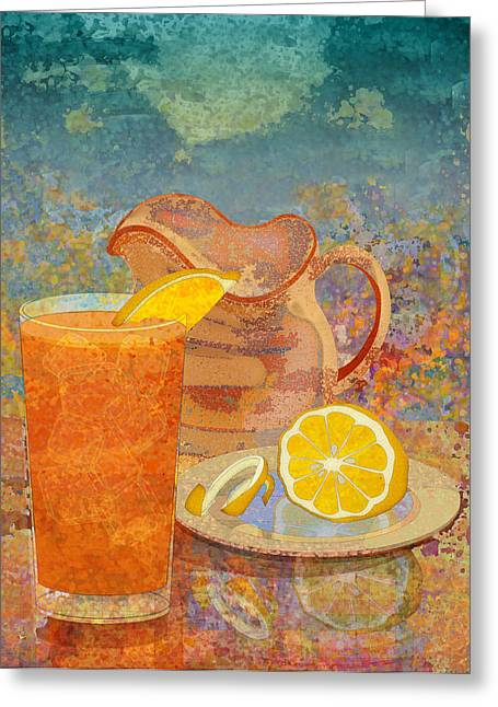 Ogling Greeting Cards - Iced Tea Greeting Card by Mary Ogle