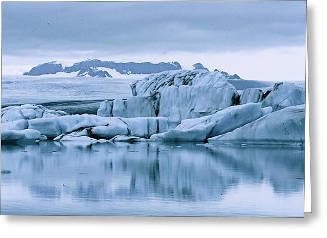 Glacierlagoon Greeting Cards - Iceland Greeting Card by Dehling Gerhard
