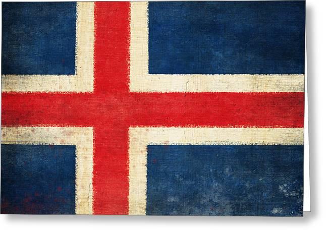 Chalks Greeting Cards - Iceland flag Greeting Card by Setsiri Silapasuwanchai