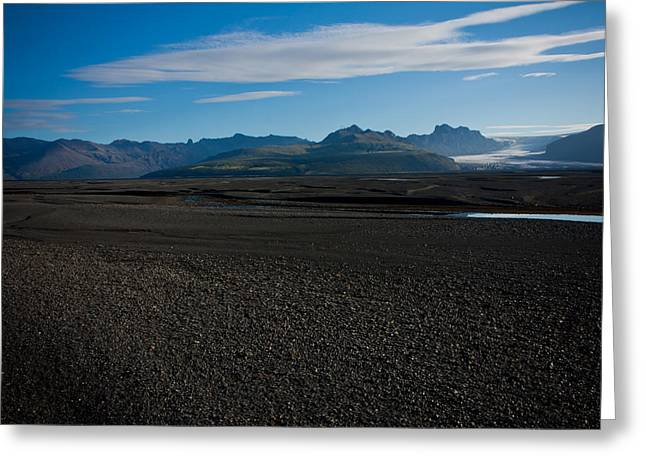 Floodplain Greeting Cards - Icelandic Floodplain Greeting Card by Anthony Doudt