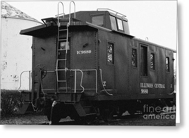Old Caboose Greeting Cards - ICG Caboose Greeting Card by Alan Look