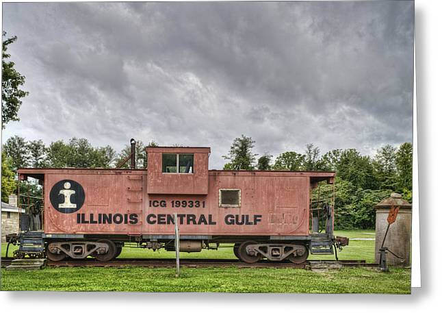 Icg Caboose Greeting Card by Jim Pearson