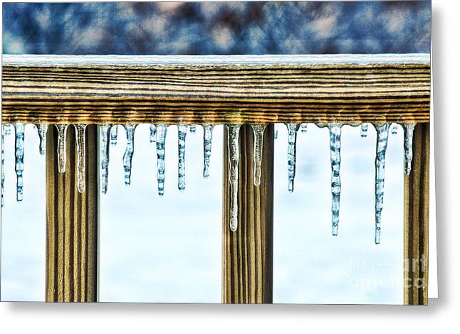 Icicles Greeting Card by HD Connelly