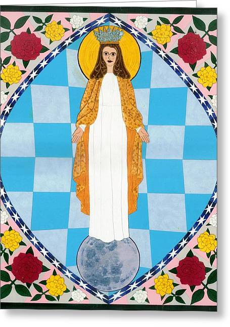 Icon Of The Immaculate Conception Greeting Card by David Raber