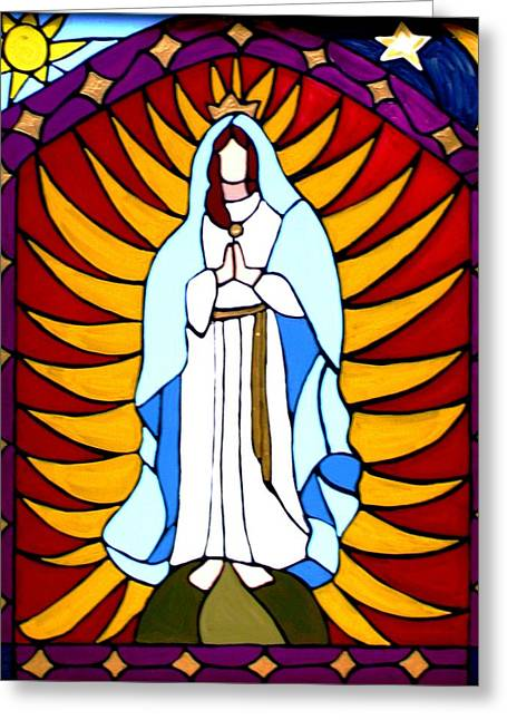 Virgin Of Guadalupe Art Greeting Cards - Iconic Greeting Card by JW DeBrock