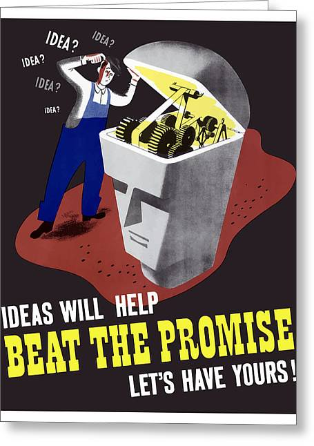 Second Greeting Cards - Ideas Will Help Beat The Promise Greeting Card by War Is Hell Store