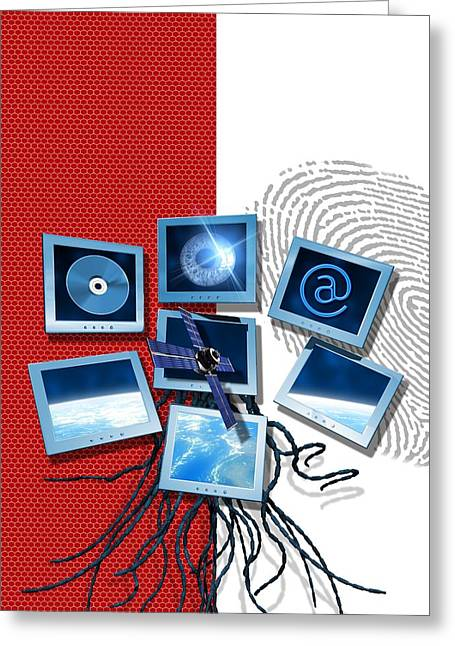 Identification Symbol Greeting Cards - Identification And Surveillance Technology Greeting Card by Victor Habbick Visions