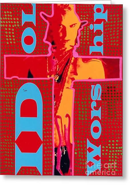 Idol Worship Greeting Card by Ricky Sencion
