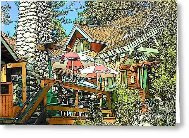 Idyllwild Greeting Cards - Idyllwild - Cafe Aroma Greeting Card by Lisa Dunn