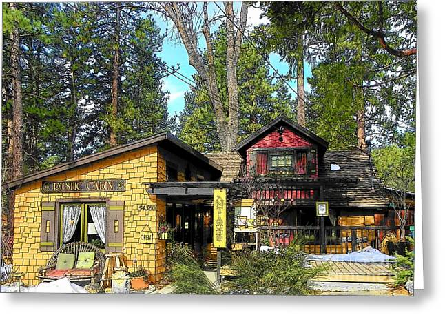 Idyllwild Greeting Cards - Idyllwild Rustic Cabin Antiques Greeting Card by Lisa Dunn