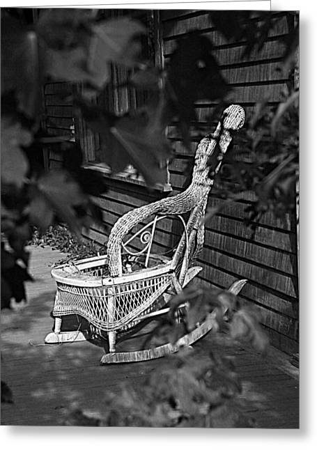 Wicker Furniture Greeting Cards - If Chairs Could Talk Greeting Card by Greg Sharpe