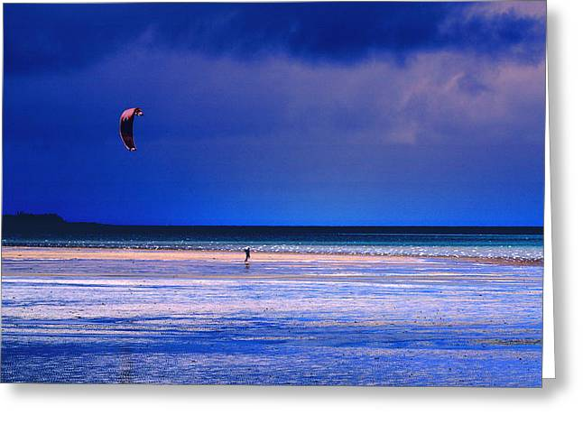 Kite Surfing Greeting Cards - If I had Wings Greeting Card by Holly Kempe
