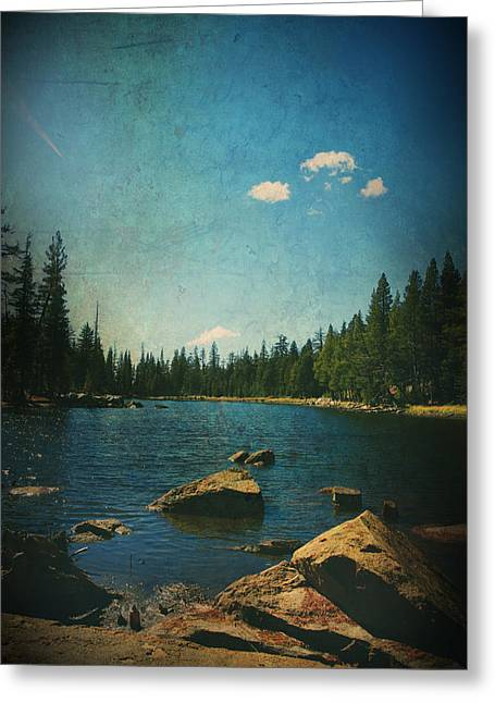 Ebbetts Pass Digital Art Greeting Cards - If It Could Be Just You and Me Greeting Card by Laurie Search