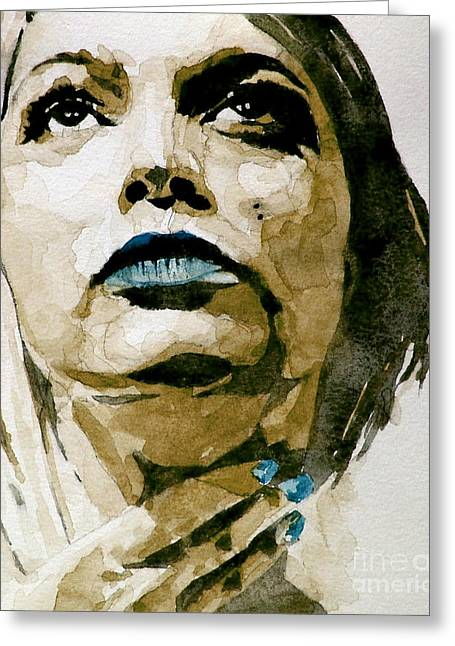 Portrait Greeting Cards - If theres a big guy up there Greeting Card by Paul Lovering
