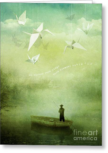 Wishes Greeting Cards - If Wishes Were Wings Greeting Card by Silas Toball