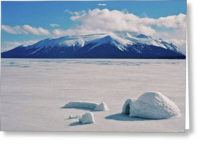 Himmel Greeting Cards - Igloo on Atlin Lake - BC Greeting Card by Juergen Weiss